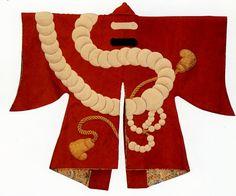 thick woolen cloth Juzu Bun tabard Japanese Textiles, Japanese Patterns, Traditional Japanese Kimono, Japanese Art, Japanese Outfits, Japanese Fashion, Festival Coats, Cherry Blossom Japan, Japan Crafts