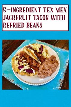 Vegan Gluten Free, Gluten Free Recipes, My Recipes, Vegan Vegetarian, Canning Refried Beans, Vegan Tacos, Tex Mex, Vegan Dinners, Food Print