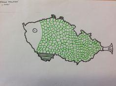 Co ti připomíná mapa ČR
