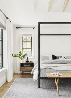 11 Ways to Pull Together a Dreamy Master Bedroom Suite - Master Bedroom Decorat. - 11 Ways to Pull Together a Dreamy Master Bedroom Suite – Master Bedroom Decorating Ideas – Home Decor Bedroom, Interior Design Living Room, Bedroom Furniture, Bedroom Bed, Bedroom Inspo, Modern Interior, Calm Bedroom, Bedroom Inspiration, Bedroom Suites
