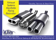 If your vehicle need any repairs or replacement of Exhaust System, Manifolds, piping or Resonators, we can assist at our Delmas and Bronkhorstspruit branches.