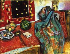 Henri Matisse (1869 - 1954) | Expressionism | Still Life with a Red Rug  - 1906