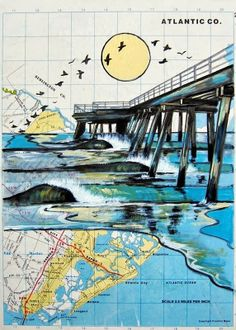 Map Art - TLB by Maryanne Pappano