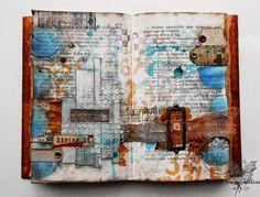 Journal page using Pan Pastels.