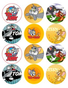Tom and Jerry   Edible Photo Cup Cake / Cookie by LornaBrabant