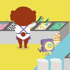 Eat!eat!eat!#uniquefamily #illustration #일러스트레이션 #drowning #garbi #dog🐶 #beep #hotchoco #puppyp #핫초코 #펍피피 #가비 #삑 #大胃王 #buffet #greedy #eat