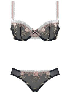 Burvogue Sexy Transparent Lace Underwire Underwear Bra Sets Wholesale