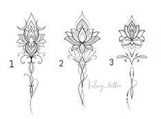 tattoos for women small Bff Tattoos, Lotusblume Tattoo, Chakra Tattoo, Spine Tattoos, Tattoo Blog, Tattoo Fonts, Back Tattoo, Cute Tattoos, Body Art Tattoos