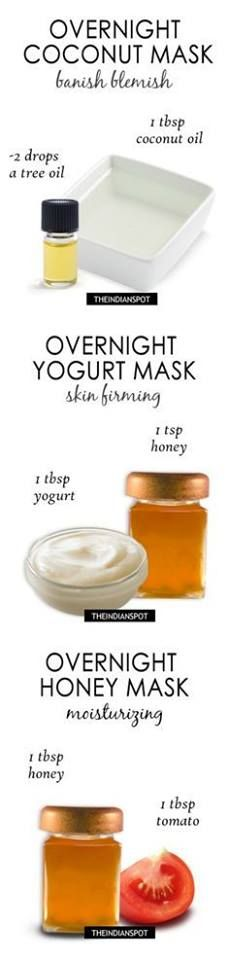 Using these overnight masks of yogurt and coconut oil, you are sure to wake up with a healthy looking skin.