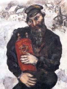 """""""With the Jewish Torah"""" of the painter Marc Chagal"""