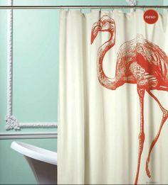 establish. - Flamingo Shower Curtain