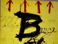 Cartel del centenario del FC Barcelona, obra de Antoni Tàpies Pablo Picasso Cubism, Agnes Martin, Centenario, Joan Miro, Abstract Expressionism, Mixed Media Art, Impressionism, Great Artists, Amazing Art