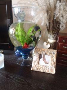 Cute fish tank and photo frame idea