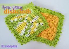 Free Crochet Pattern - Granny Dishcloth