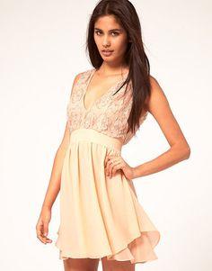 ShopStyle: ASOS Skater Dress With Embellished Top