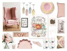 """Pink Thanksgiving"" by christyshawn on Polyvore featuring interior, interiors, interior design, home, home decor, interior decorating, Anthropologie, Bitossi, Home Decorators Collection and Simpatico"