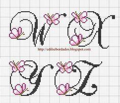"Monograma Borboleta ""W - Z"""