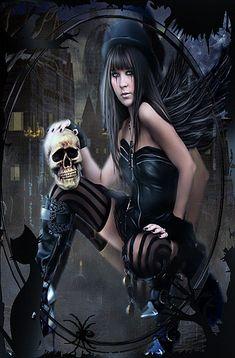 Halloween Gif, Gothic Halloween, Gothic Lingerie, Gothic Artwork, Gif Photo, Goth Beauty, Deviantart, Gothic Girls, Motion Design