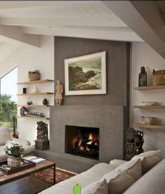 35 Good Decorating Modern Fireplace Ideas #fireplace #firefighter #firepit