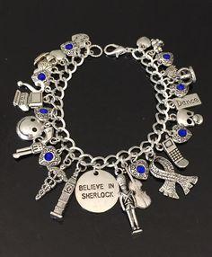 Believe in Sherlock Charm Bracelet, Sherlock Holmes, John Watson, Tv Show Fandom