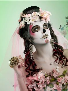 Day of the dead makeup #sugarskull