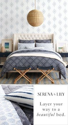 Layer your way to a beautiful bed. Luxury bedding that feels casual yet sophisticated. Explore duvet covers, sheet sets, quilts and more.