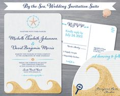 Hey, I found this really awesome Etsy listing at https://www.etsy.com/listing/154137720/beach-wedding-invitation-suite-by-the