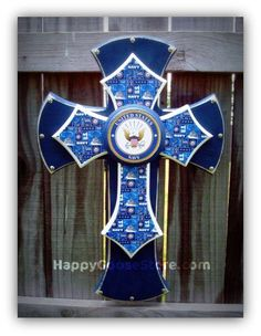 Medium Wall CROSS - 3-layer - United States NAVY on Etsy, $55.95