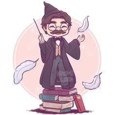 Professor Flitwick by Naomi Lord Cumpleaños Harry Potter, Harry Potter Cartoon, Harry Potter Artwork, Images Harry Potter, Harry Potter Drawings, Harry Potter Wallpaper, Harry Potter Characters, Chibi Kawaii, Harry Potter Background