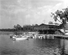 The Yardarm Restaurant on the Homosassa River ,1966..