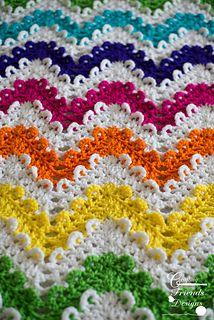 Loop the Loop Chevron Afghan #crochet #pattern by Crafting Friends Designs