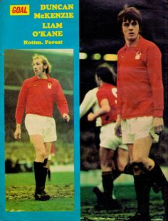Duncan McKenzie and Liam O'Kane of Nottingham Forest in 1973.