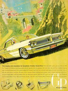 1962 Ad Vintage Pontiac Grand Prix GP Automobile Car Bucket Seats General YMM5 - Period Paper