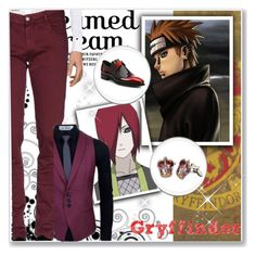 """Hogwarts Students: Nagato/Pain"" by bambolinadicarta ❤ liked on Polyvore featuring DOOA, Corthay, men's fashion and menswear"
