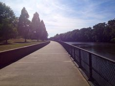 Take a stroll on the Tar River Esplanade at the Town Common.