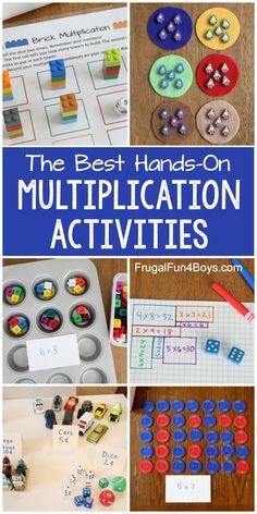 Hands-On Multiplication Activities - Frugal Fun For Boys and Girls Multiplication Activities, Math Activities For Kids, Math For Kids, Math Games, Numeracy, Maths Fun, Math Fractions, Kids Fun, Homeschool Math