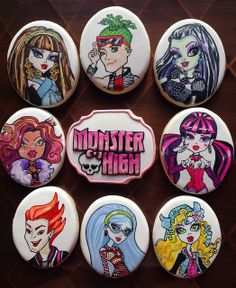 Monster High cookies      https://www.facebook.com/pages/Completely-Cookie-by-Kathleen-Hopper/576565972393890