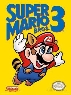 Super Mario Bros. 3 - NES Cover Masterprint at AllPosters.com