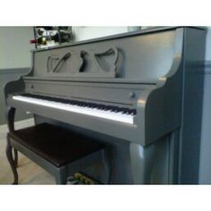 painted   piano SherwinWilliams Urbane bronze....maybe a gray color with pops of color on top and on the music stand