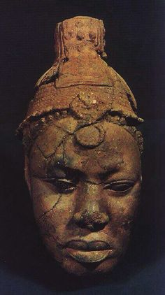 Ife (Nigeria ) bronze casting of a King, dated around 12th century.