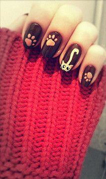 kitty cats, kitten, black cats, nail art designs, nail designs, nail arts, cat nail, beauty nails, cat lady