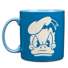 """Who said """"Good Morning"""" here!? :-D Love this Donald mug. The other side has a happy Donald to balance out your mood."""