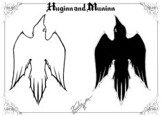 Huginn is thought and moves forward to anticipate what is to come but Muninn is memory of things that have already passed. To have such servants to help his lone eye look to the future and the past allows Allfather Odin to make the right choices in the present. The lesson is to be mindful of the past, while at the same time always weighing up the possibilities of the future, to make sound choices every day. Art by kashiechan.