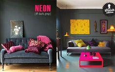 Decoración de la casa con colores neón     http://charhadas.com/ideas/29973-decoracion-de-la-casa-con-colores-neon