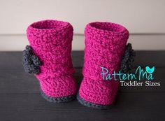 Crochet Toddler Boot Pattern PDF