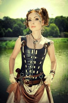 The Steampunk Guide: Fashion & Events: Steampunk Girl In Leather Bodice