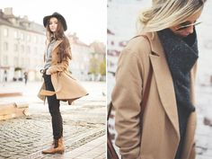 Spotted: Camel Coats -  Stockholm StreetStyle