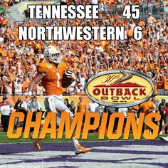 Tennessee 45 Northwestern 6