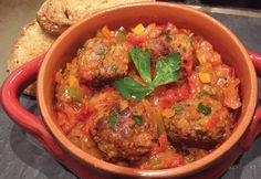Tuscan Seitan Meatballs in Tomato, Onion and Anaheim Pepper Sauce Take a trip to Tuscany - vegan style!...