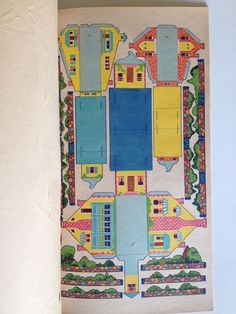 RARE Vintage 1933 Punch Out 24 Paper Houses to Build Put Together Town Whitman   eBay